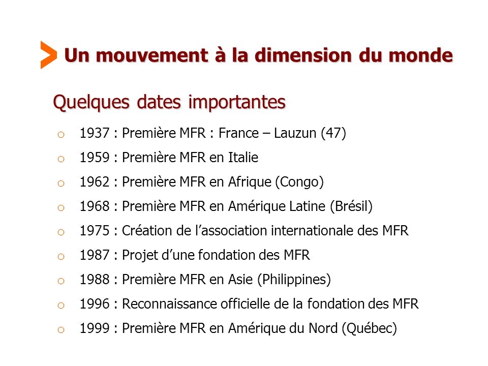 Un mouvement à la dimension du monde