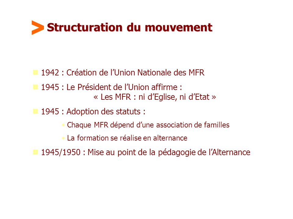 Structuration du mouvement