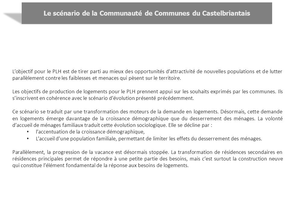 Le scénario de la Communauté de Communes du Castelbriantais