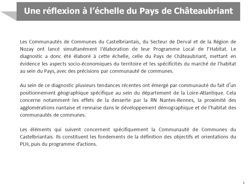 Une réflexion à l'échelle du Pays de Châteaubriant