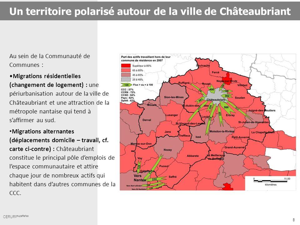 Un territoire polarisé autour de la ville de Châteaubriant