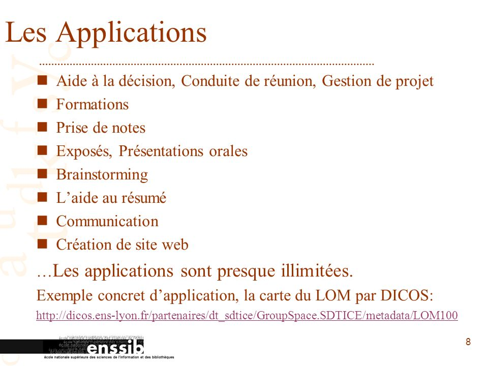 Les Applications Aide à la décision, Conduite de réunion, Gestion de projet. Formations. Prise de notes.