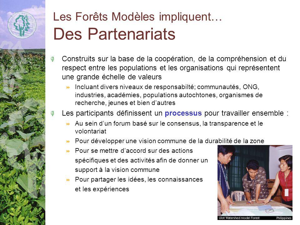 Les Forêts Modèles impliquent… Des Partenariats