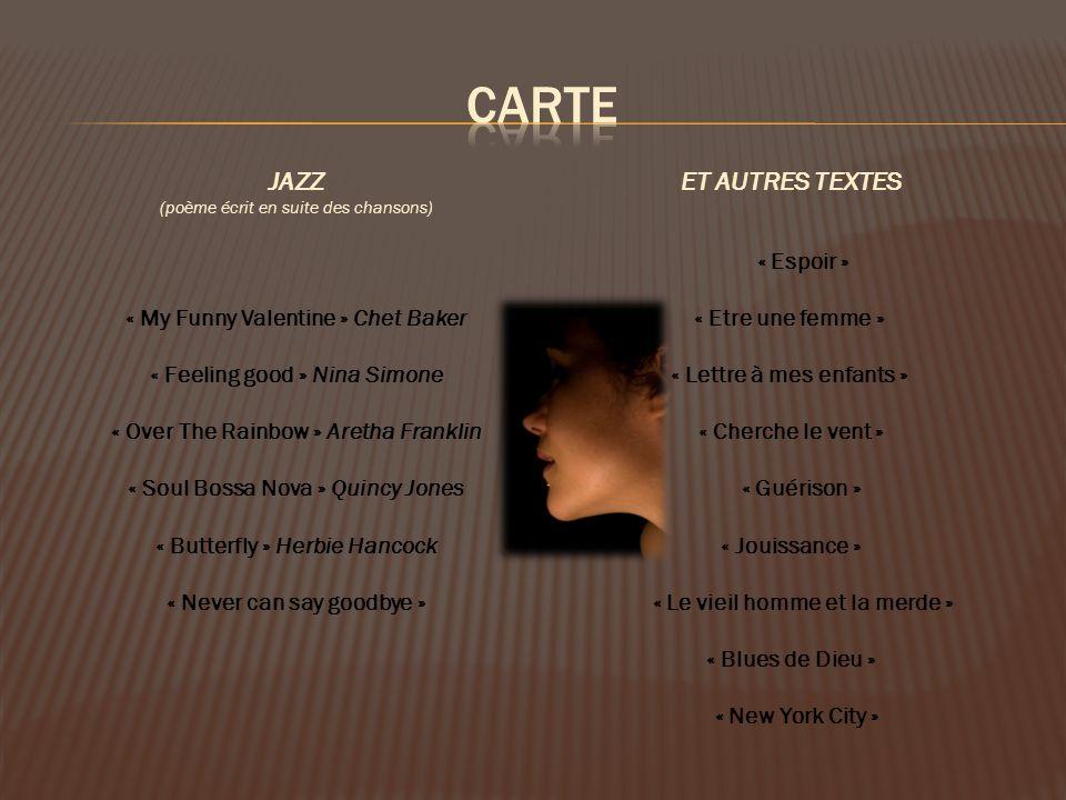CARTE JAZZ ET AUTRES TEXTES « Espoir »