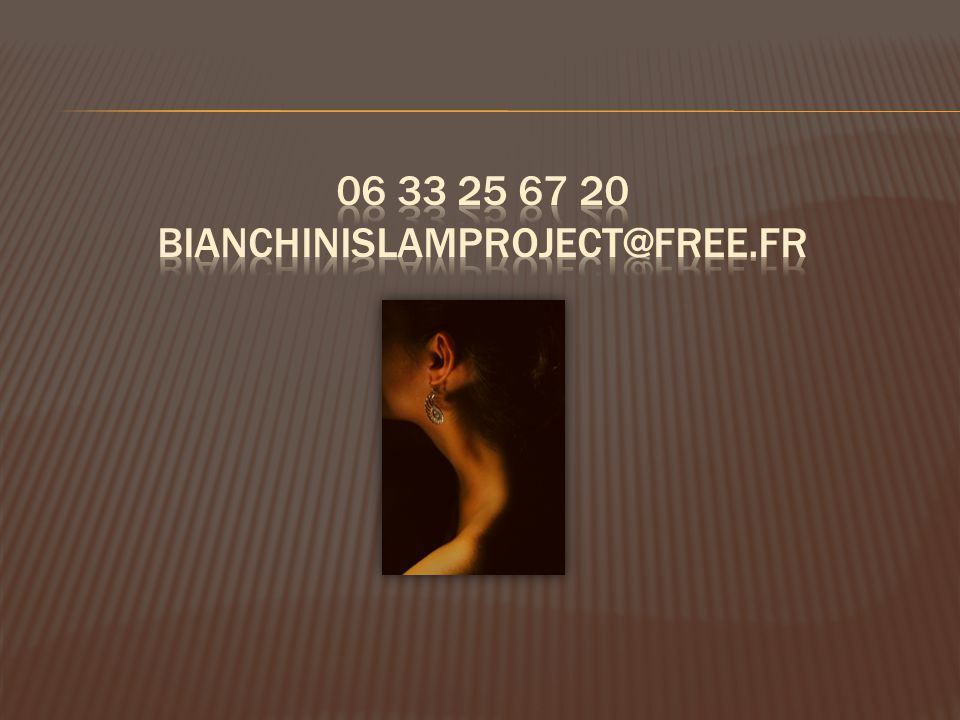 06 33 25 67 20 bianchinislamproject@free.fr