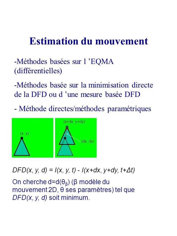 Estimation du mouvement