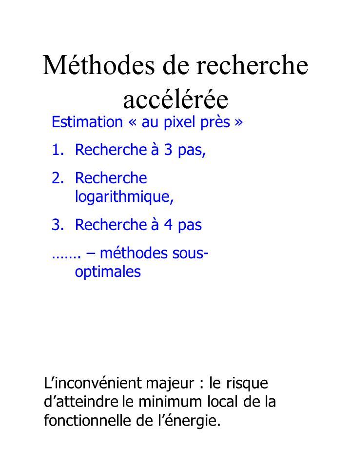 Méthodes de recherche accélérée