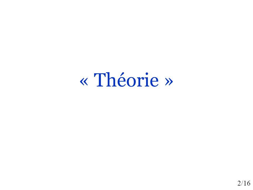 « Théorie »