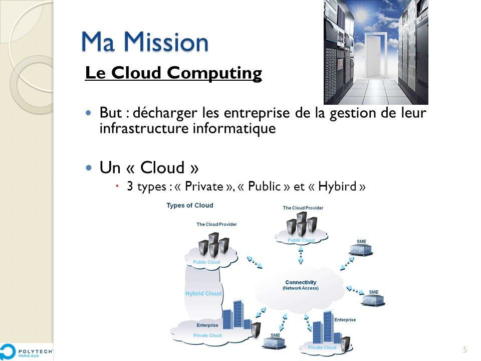 Ma Mission Le Cloud Computing Un « Cloud »