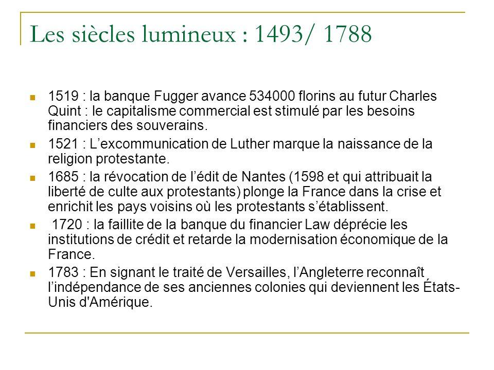 Les siècles lumineux : 1493/ 1788