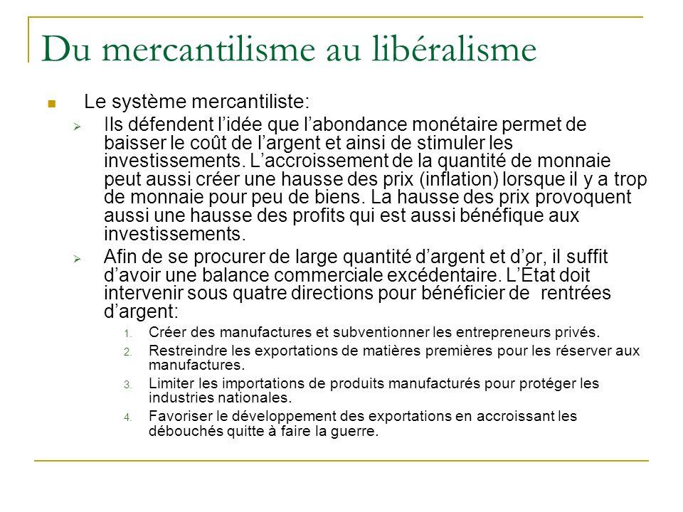 Du mercantilisme au libéralisme