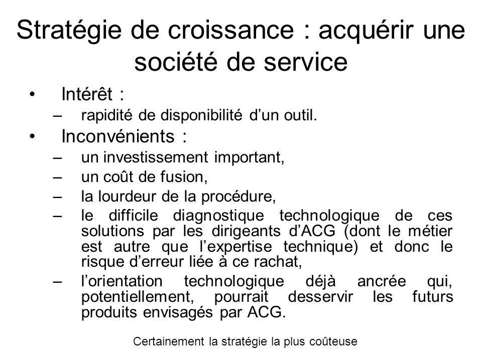 Stratégie de croissance : acquérir une société de service