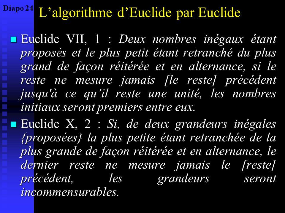L'algorithme d'Euclide par Euclide