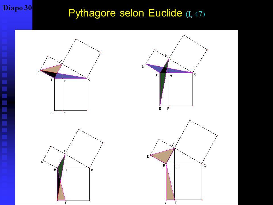 Pythagore selon Euclide (I, 47)