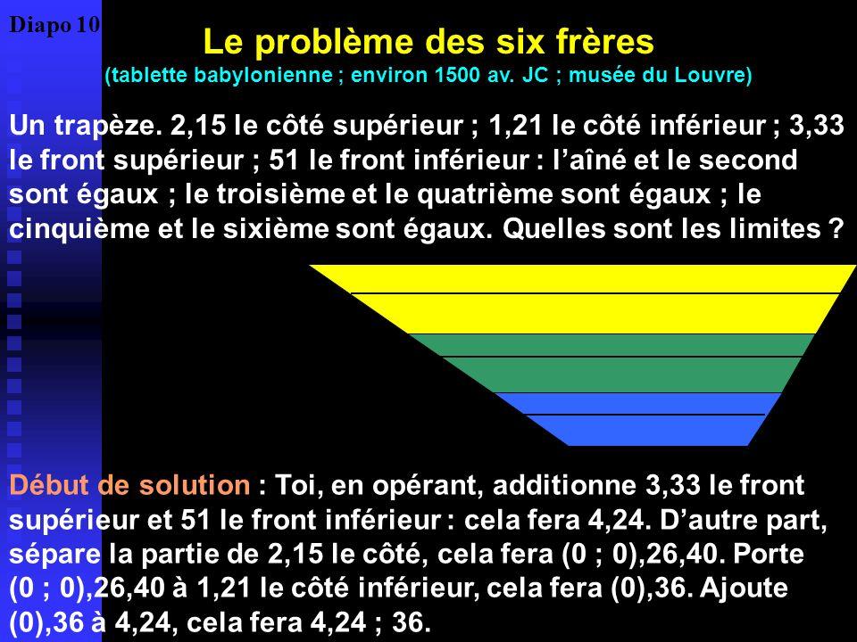 Le problème des six frères