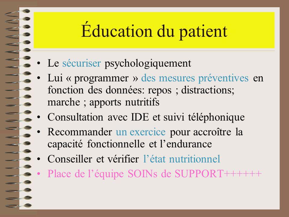 Éducation du patient Le sécuriser psychologiquement