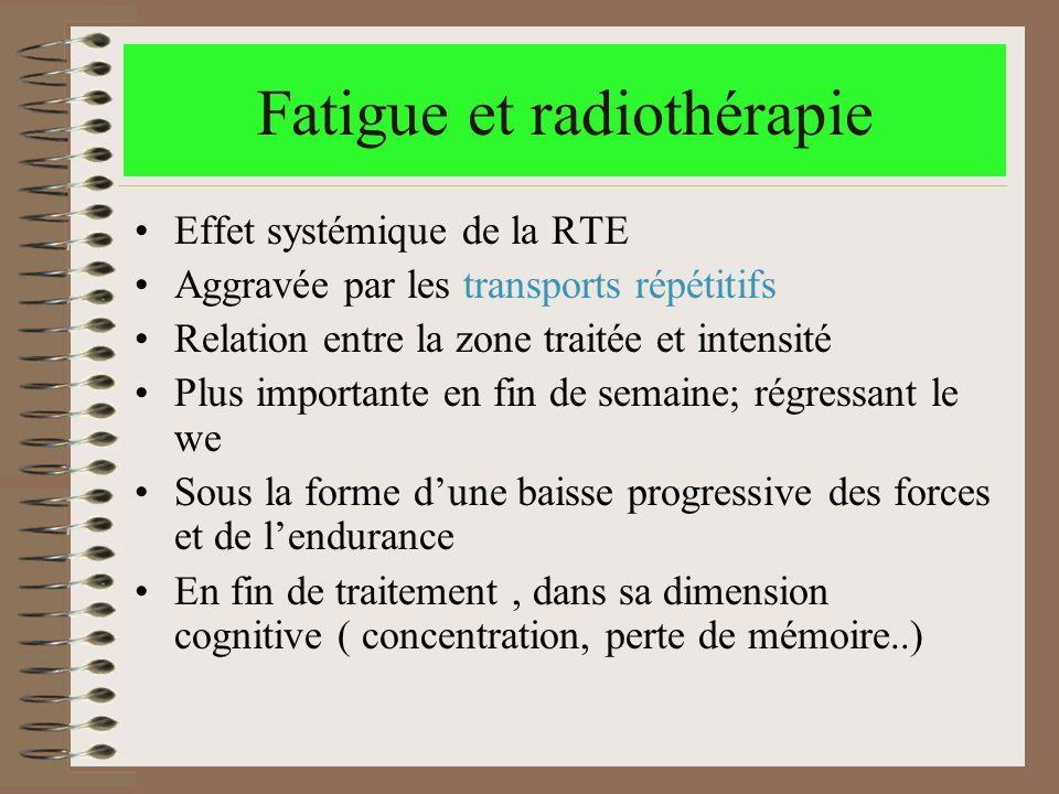 Fatigue et radiothérapie