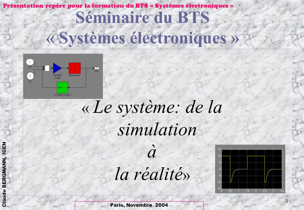« Systèmes électroniques »