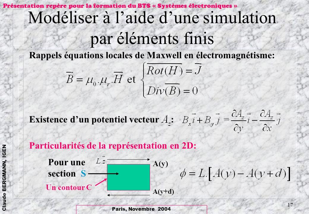 Modéliser à l'aide d'une simulation par éléments finis