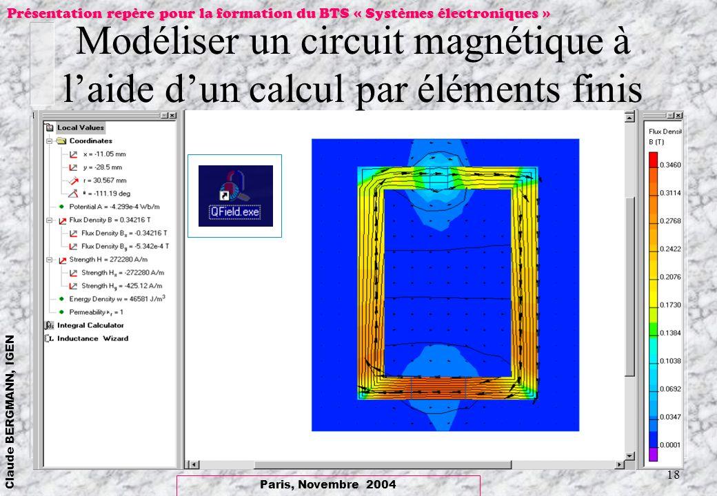 Modéliser un circuit magnétique à l'aide d'un calcul par éléments finis