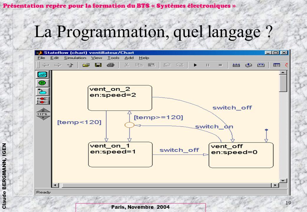 La Programmation, quel langage