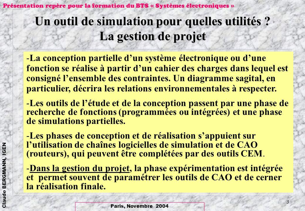 Un outil de simulation pour quelles utilités La gestion de projet
