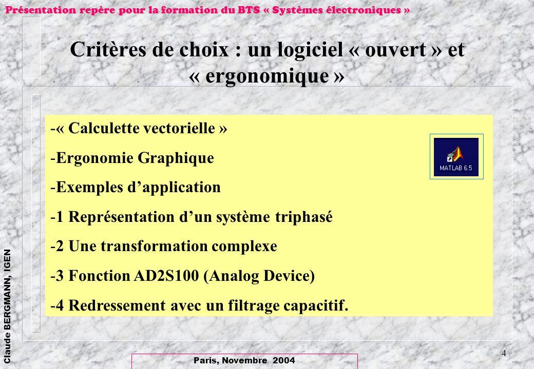 Critères de choix : un logiciel « ouvert » et « ergonomique »