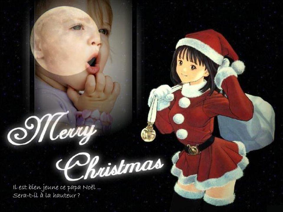 Il est bien jeune ce papa Noël ..