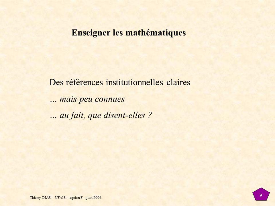 Enseigner les mathématiques