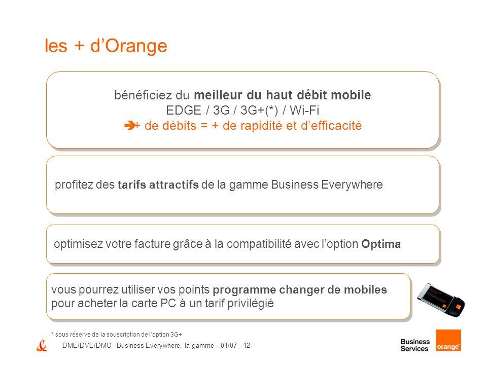 les + d'Orange bénéficiez du meilleur du haut débit mobile