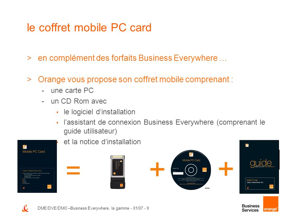 le coffret mobile PC card