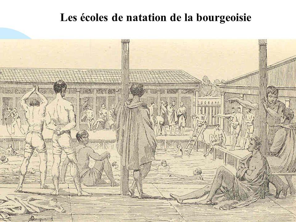 Les écoles de natation de la bourgeoisie