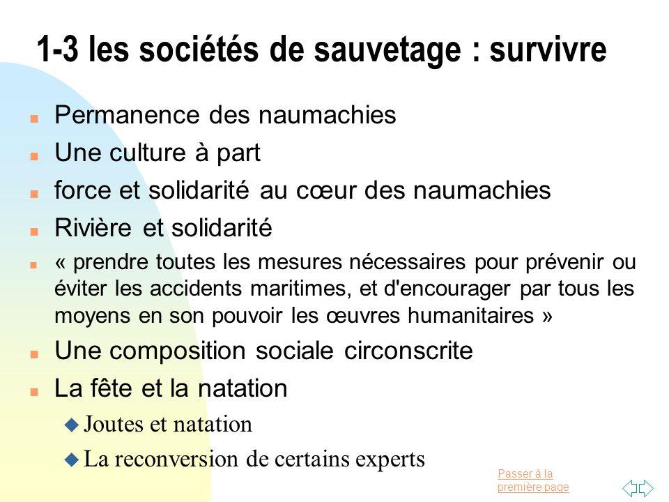 1-3 les sociétés de sauvetage : survivre