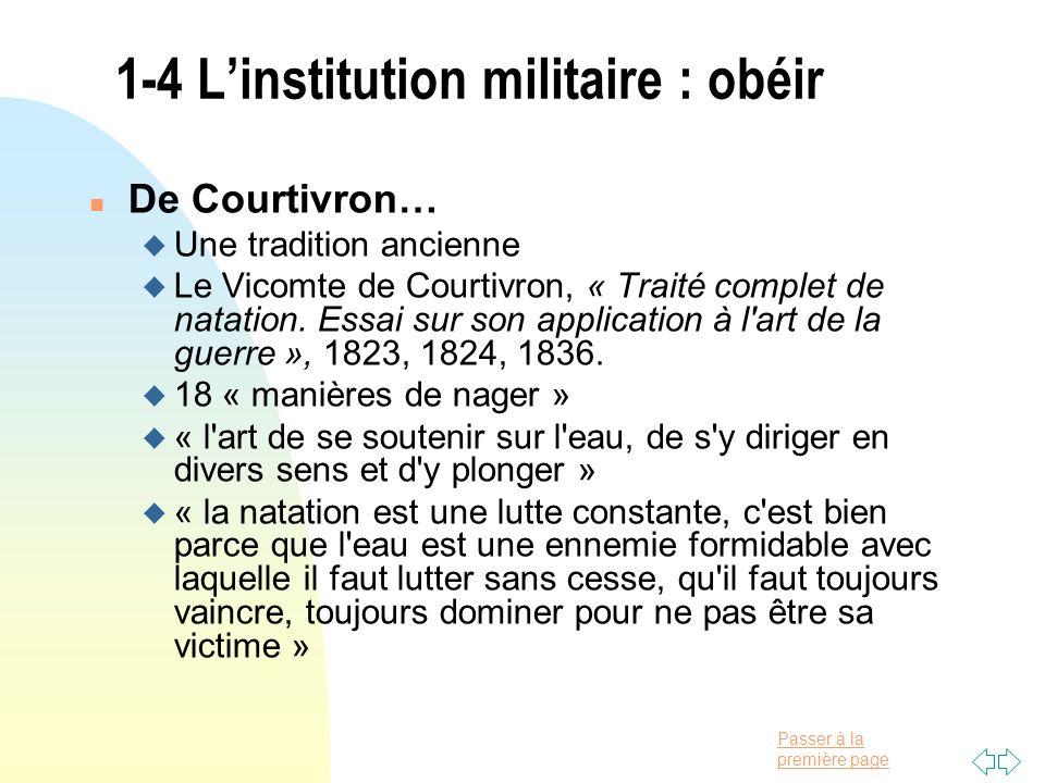 1-4 L'institution militaire : obéir