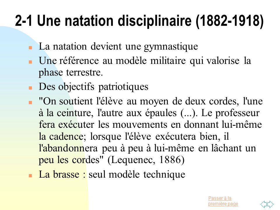 2-1 Une natation disciplinaire (1882-1918)