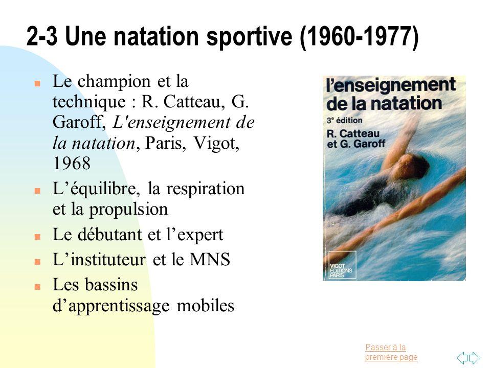 2-3 Une natation sportive (1960-1977)