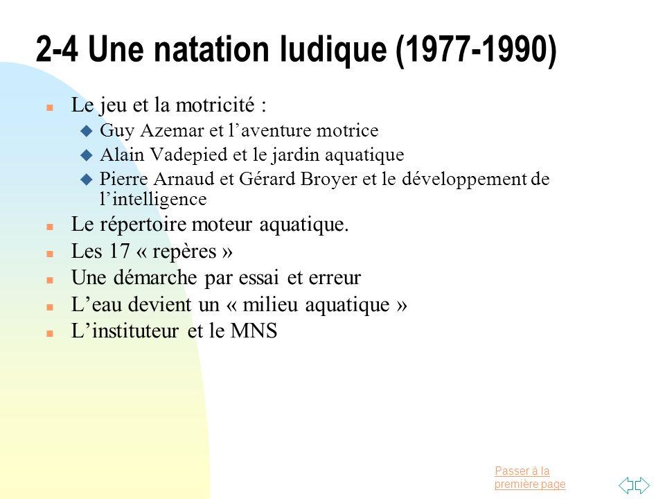 2-4 Une natation ludique (1977-1990)