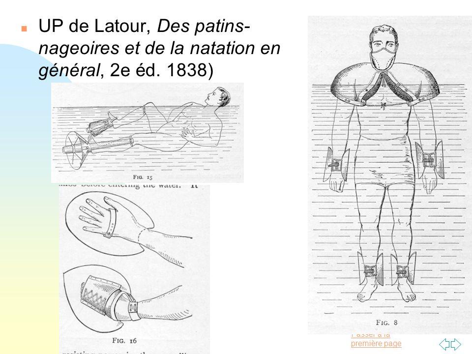 UP de Latour, Des patins-nageoires et de la natation en général, 2e éd