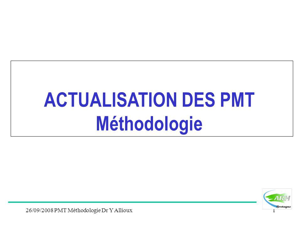 ACTUALISATION DES PMT Méthodologie