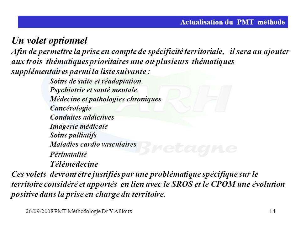 Actualisation du PMT méthode