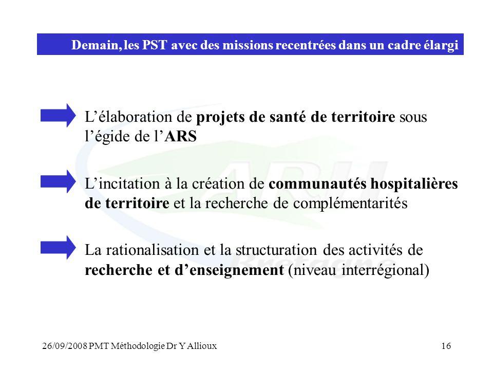 L'élaboration de projets de santé de territoire sous l'égide de l'ARS