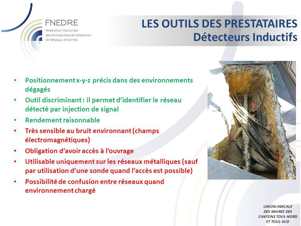 LES OUTILS DES PRESTATAIRES Détecteurs Inductifs