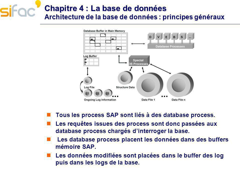 Chapitre 4 : La base de données Architecture de la base de données : principes généraux