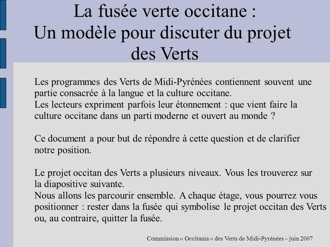La fusée verte occitane : Un modèle pour discuter du projet des Verts