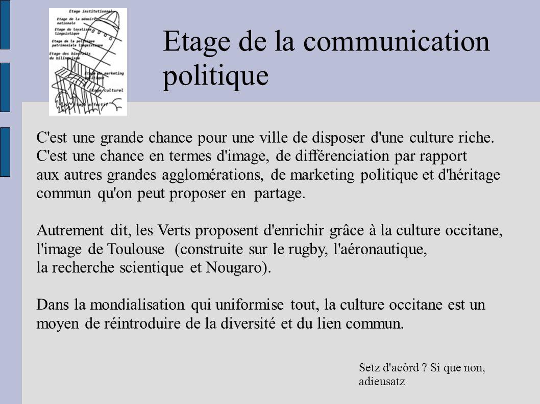 Etage de la communication politique