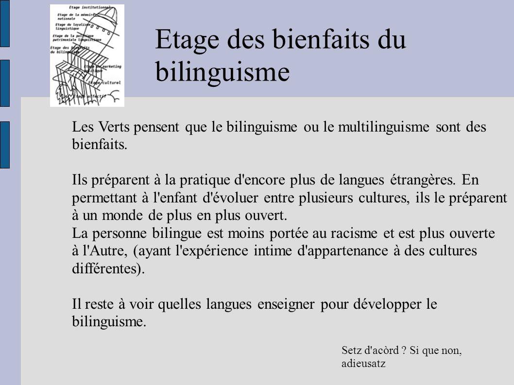 Etage des bienfaits du bilinguisme