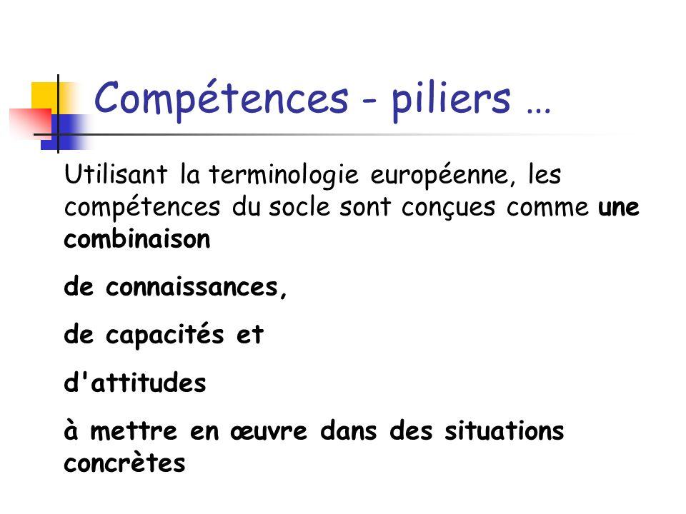 Compétences - piliers …
