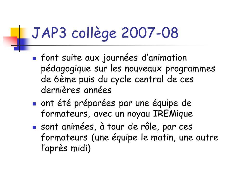 JAP3 collège 2007-08