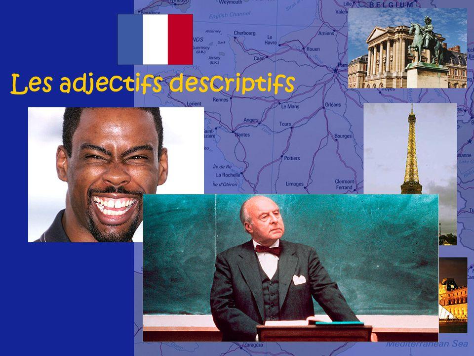 Les adjectifs descriptifs