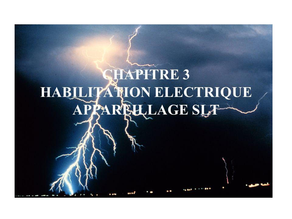 CHAPITRE 3 HABILITATION ELECTRIQUE APPAREILLAGE SLT